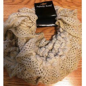 ⚜️Infinity Circle Scarf (Tan Crochet)